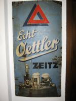 Emaille-Schild der Brauerei Oettler zu verkaufen