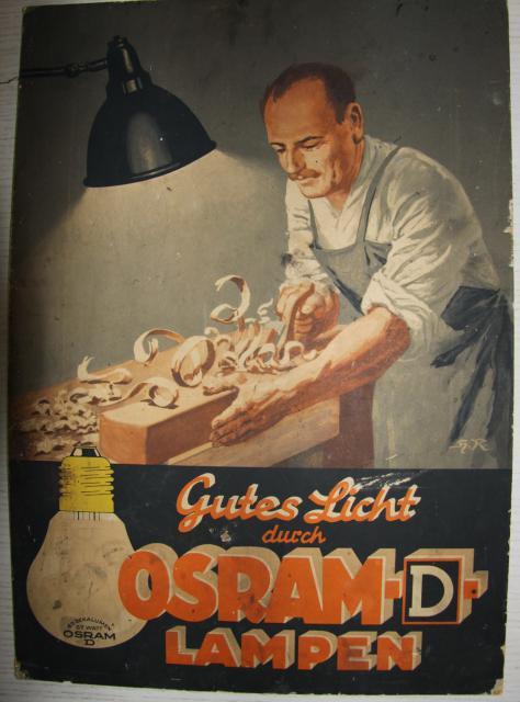 Osram Pappschild