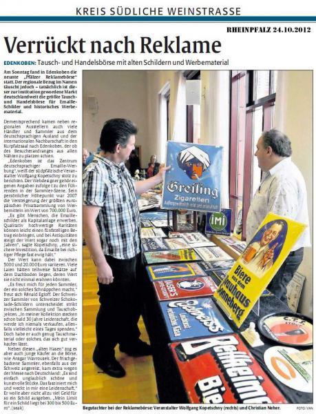 Presse zu Edenkobener Börse 2012
