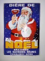 Fertig restauriertes Schild, Bière de Noel