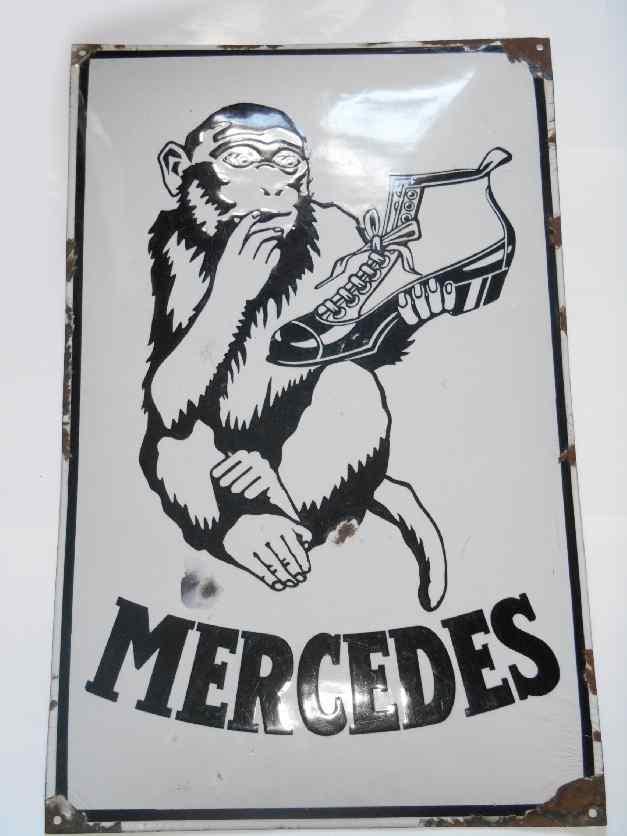 Mercedes Schuhe   Schilderjagd, alte Emailleschilder und Blechschilder